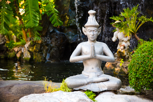 Giant Statue In Garden At Wat Pho Temple - Stock Photo - Images