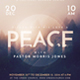 Church/Christian Themed Event Flyer - Peace - GraphicRiver Item for Sale