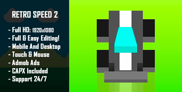 Retro Speed 2 - HTML5 Game + Mobile Version! (Construct-2 CAPX) - CodeCanyon Item for Sale