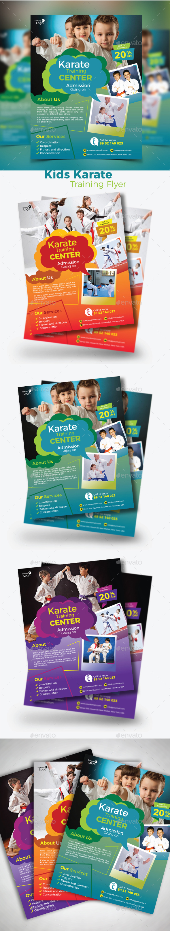 GraphicRiver Kids Karate Training Flyer 21002735