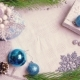 Woman's Hand Puts a Christmas Wrapped Gift on a Decorated Table with Flashing Lights and Cones Top - VideoHive Item for Sale