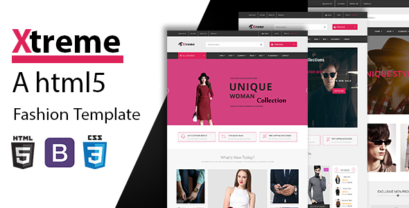Image of Xtreme - Fashion eCommerce HTML5 Template