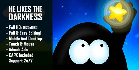 CodeCanyon He Likes The Darkness HTML5 Game & Mobile Version Construct-2 CAPX 21002962