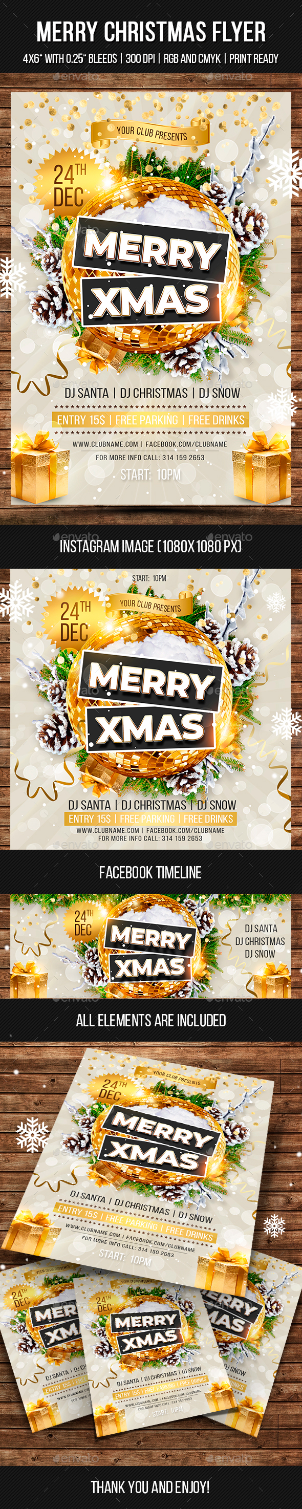 GraphicRiver Merry Christmas Flyer 21003023