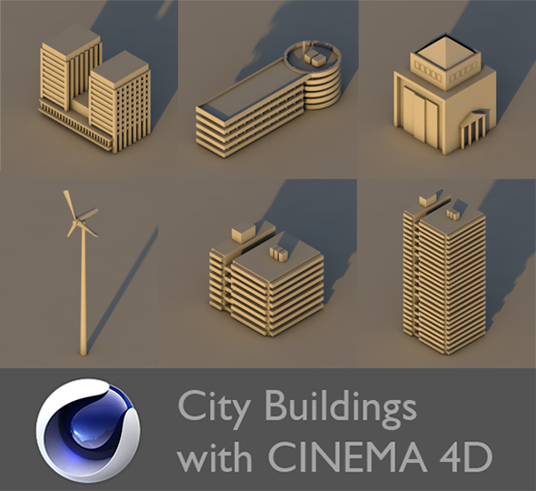 3DOcean Low Poly City Building Collection 2 21003056