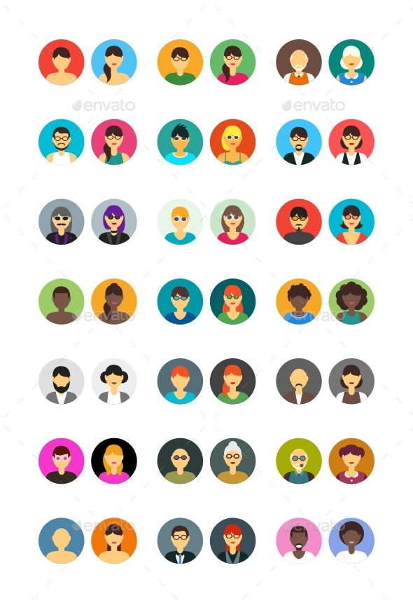 GraphicRiver Family avatars 21003096