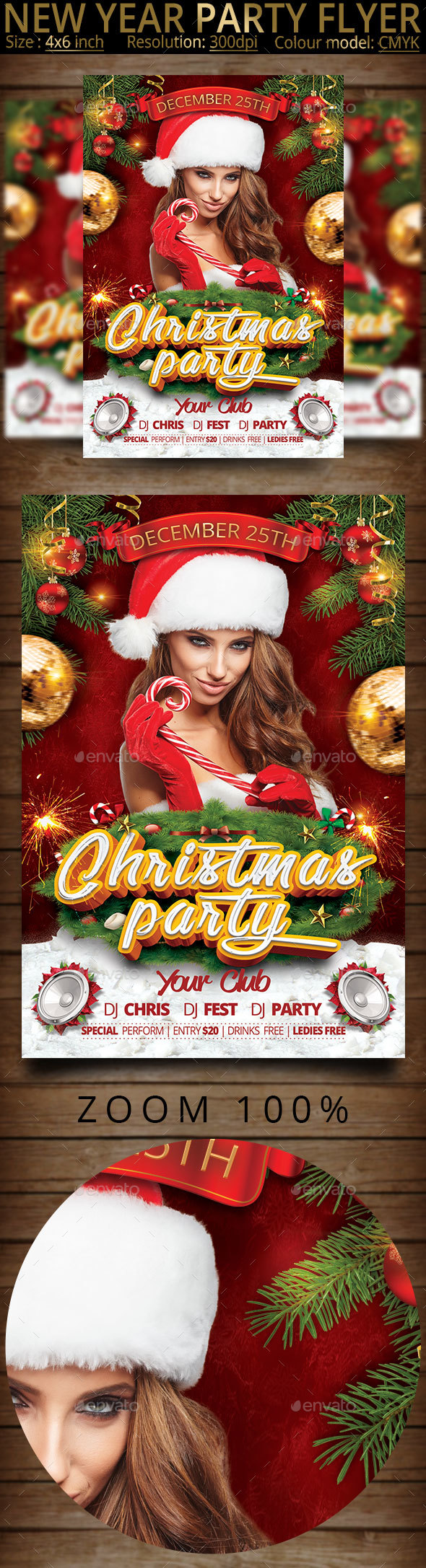 Christmas New Year Party Flyer - Clubs & Parties Events