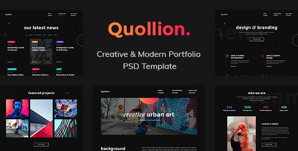 Quollion - Creative & Modern Portfolio PSD Template - Creative PSD Templates