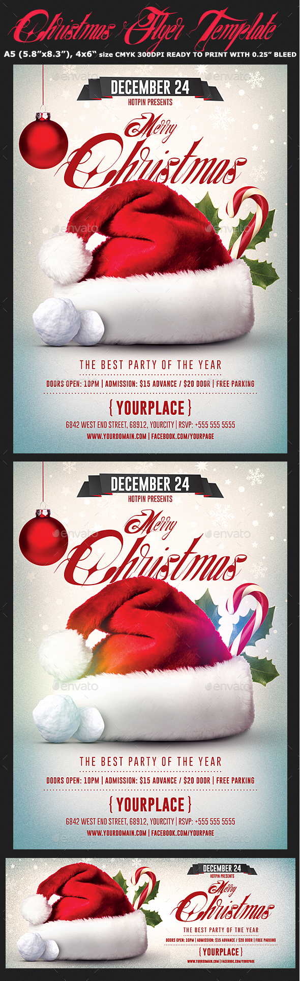 GraphicRiver Christmas Flyer Psd Template 21003499