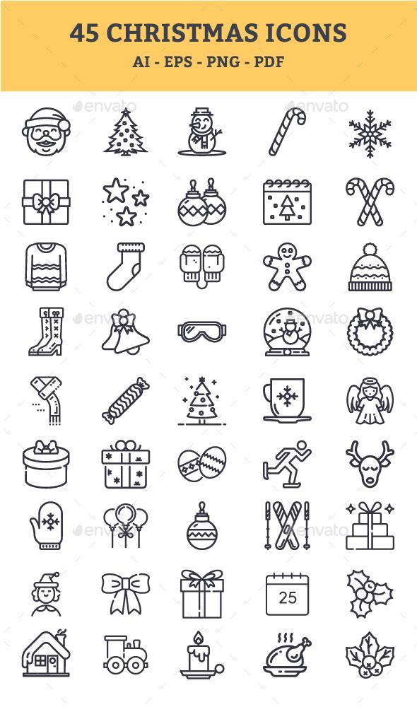 GraphicRiver Christmas Icons 21003515