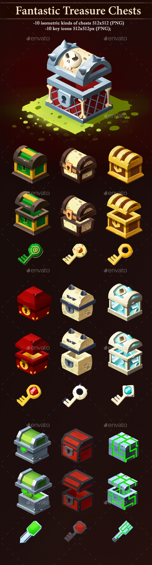 Fantastic Treasure Chests - Miscellaneous Game Assets