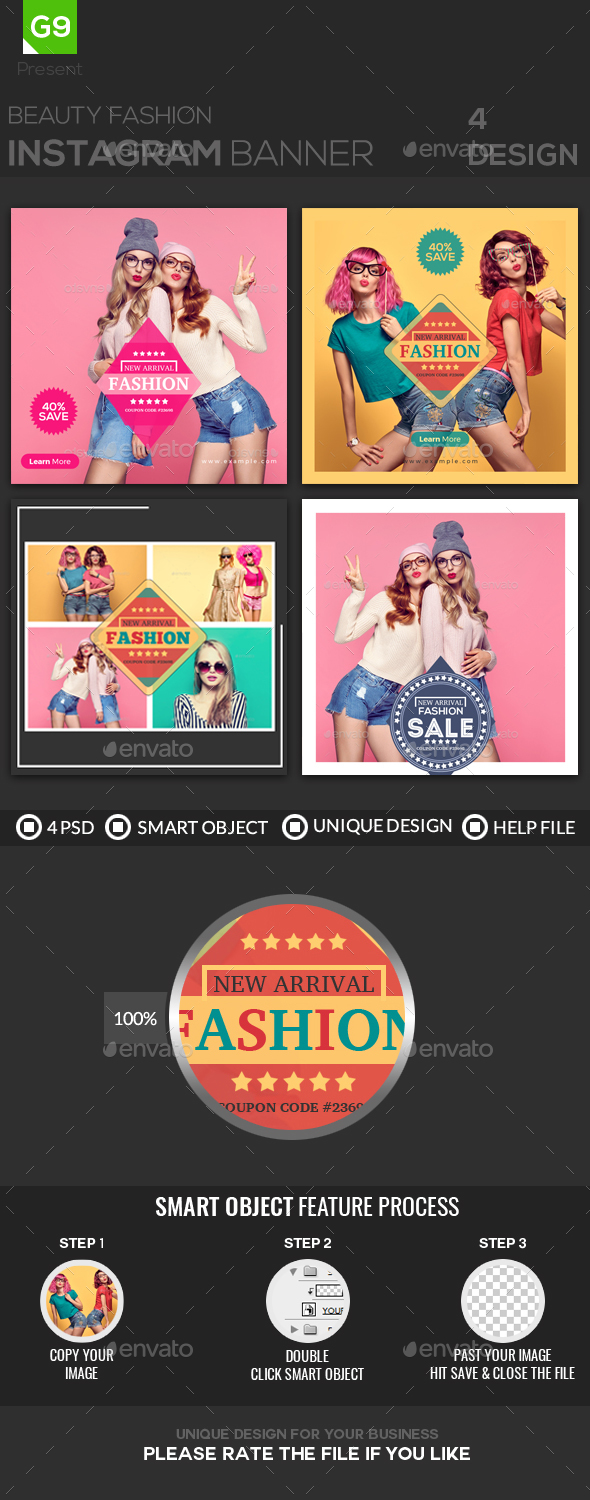 Fashion Instagram - Banners & Ads Web Elements