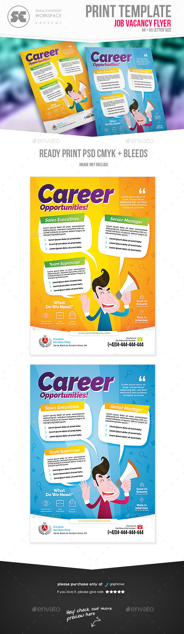 GraphicRiver Job Vacancy Flyer 21003763