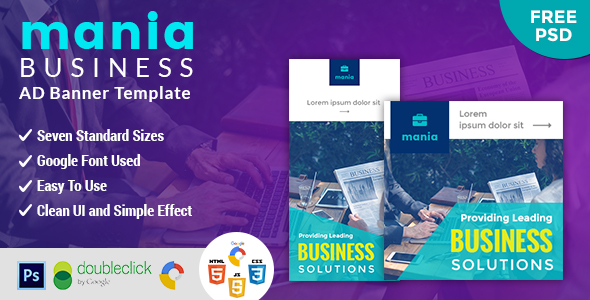 Mania | Business HTML 5 Animated Google Banner - CodeCanyon Item for Sale