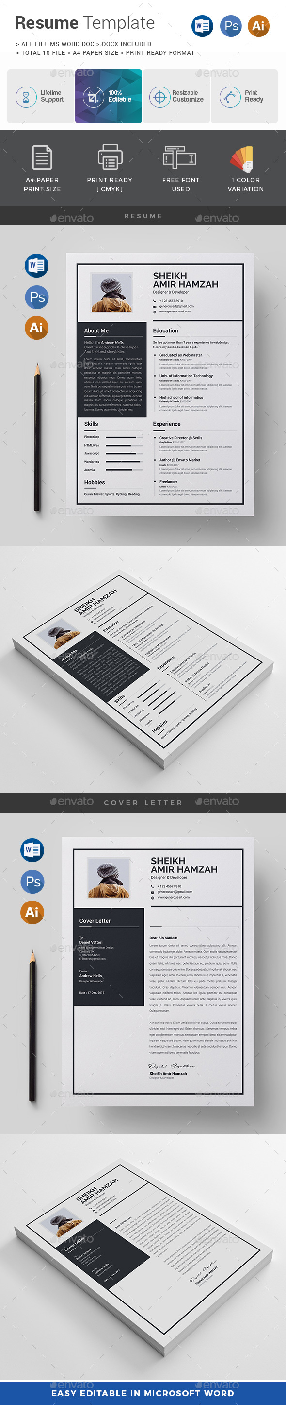 GraphicRiver Resume 21003890