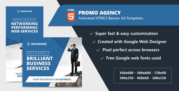 CodeCanyon HTML5 Animated Banner Ads Promo Agency GWD 21003902