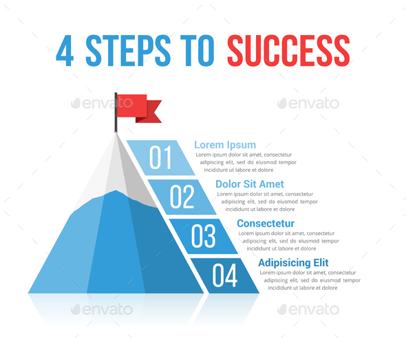 GraphicRiver 4 Steps to Success 21003929