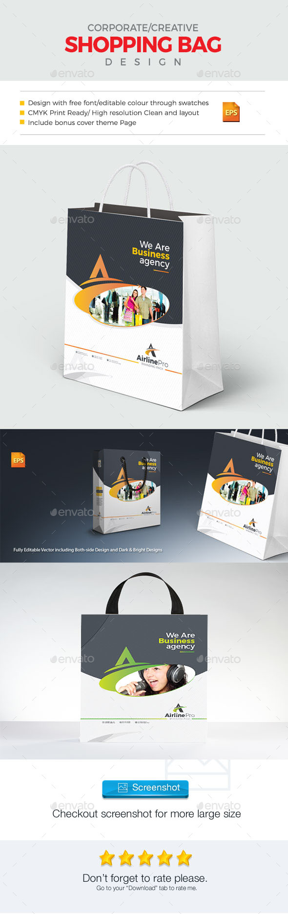 GraphicRiver Shopping Bag Template 21003984