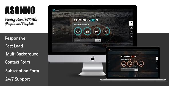 Image of Asonno - Coming Soon HTML5 Responsive Template
