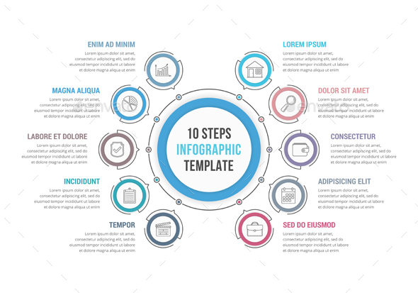 GraphicRiver 10 Steps Circle Infographics 21004022