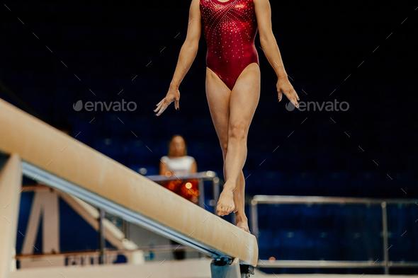 balance beam performance - Stock Photo - Images