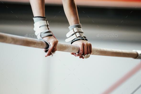 hands grips athletes female gymnast - Stock Photo - Images