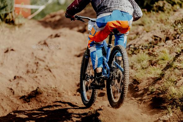 downhill xtreme rider man - Stock Photo - Images