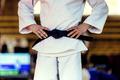 closeup athlete judoka