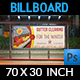 Gutter Cleaning Services Billboard Template - GraphicRiver Item for Sale