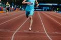 finish line leader male runner