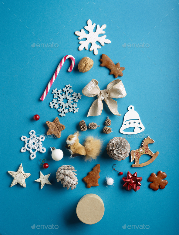 various Christmas decorations - Stock Photo - Images