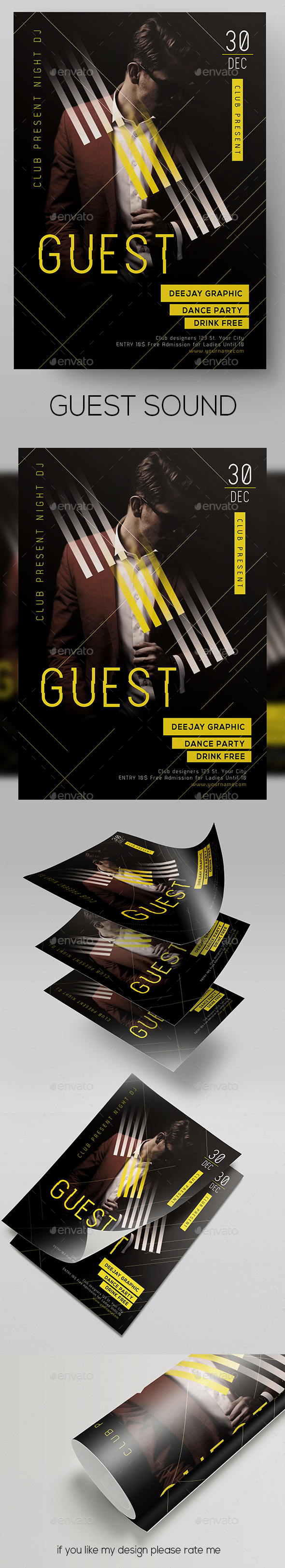 GraphicRiver Club DJ Flyer 21004335