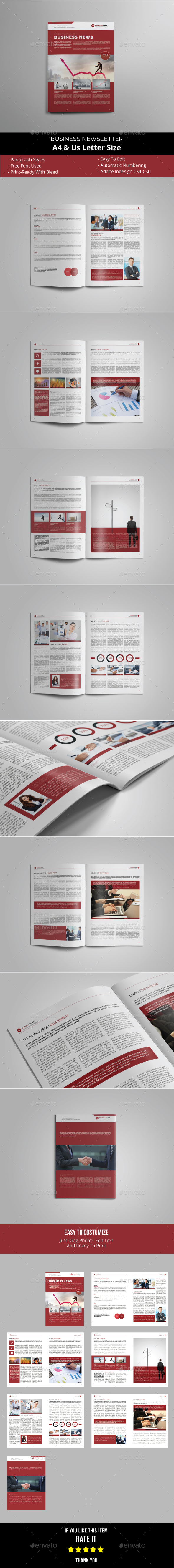 GraphicRiver Business Newsletter Template 21004350