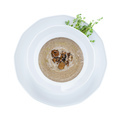 Mushroom soup with black truffle. With clipping path.