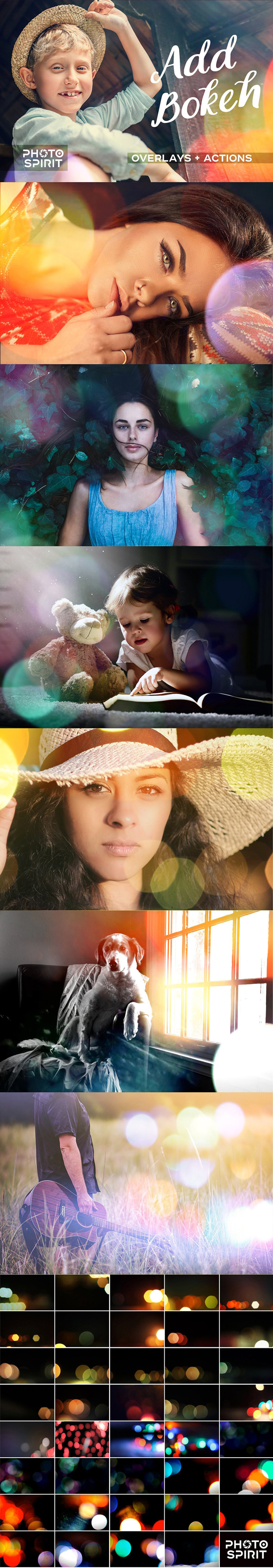 GraphicRiver Add Bokeh Overlay Photoshop Actions 21004615