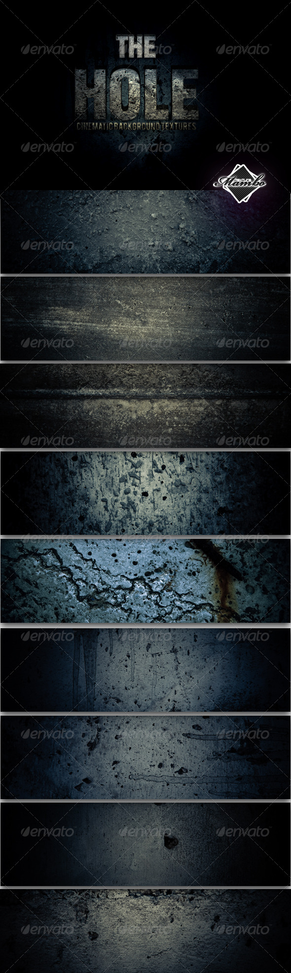 The Hole - Cinematic Background Textures - Industrial / Grunge Textures
