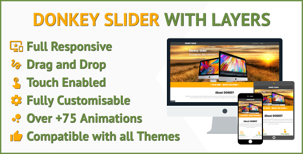 Responsive Layer Slider WordPress Plugin Donkey Slider is a Fully Customizable Silder for WordPress - CodeCanyon Item for Sale