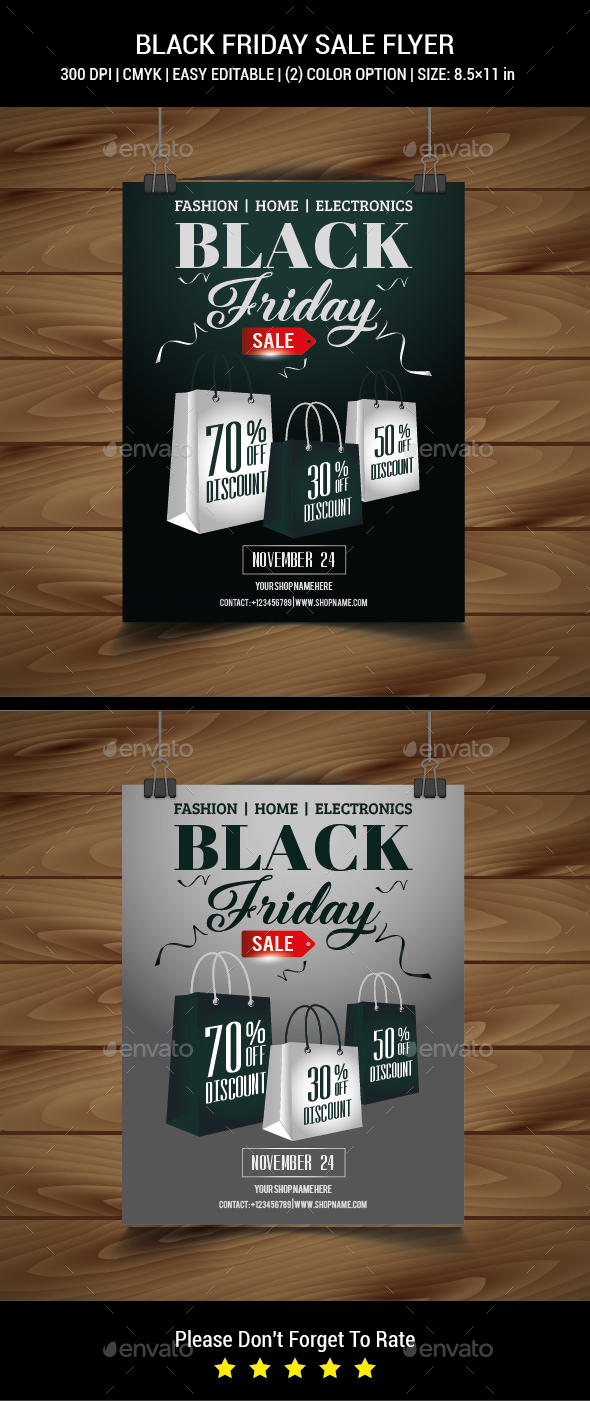 GraphicRiver Black Friday Sale Flyer 20981888