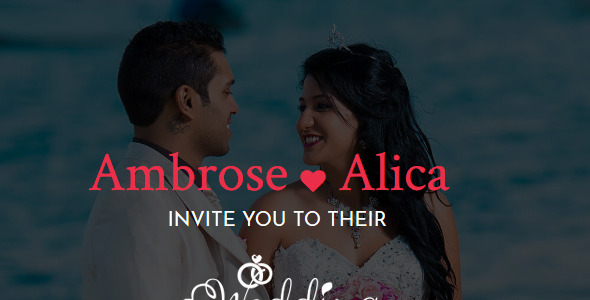 Wedding-Responsive Wedding Template