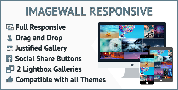 Photo Wall WordPress Plugin Responsive Image Wall for WordPress with Lightbox and Social Media Share - CodeCanyon Item for Sale