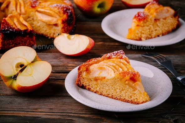 Traditional homemade apple pie - Stock Photo - Images