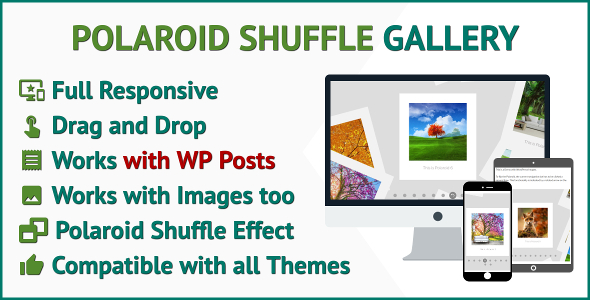 Shuffle Gallery WordPress Plugin Transform Images and Posts to a Polaroid Gallery for WordPress - CodeCanyon Item for Sale