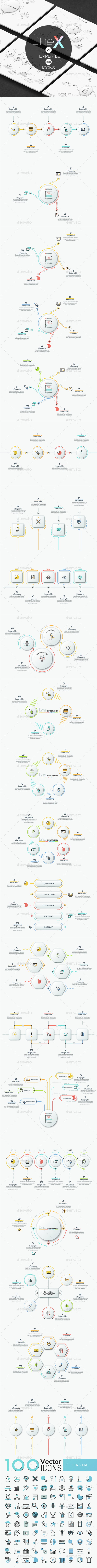 GraphicRiver Line-X Infographic 21004829
