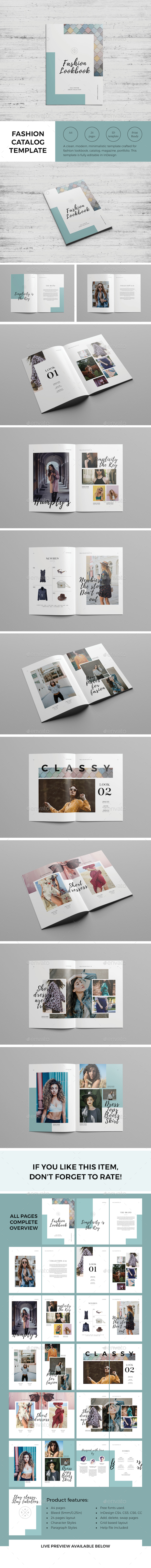 GraphicRiver Fashion Catalog Lookbook Template 21004851