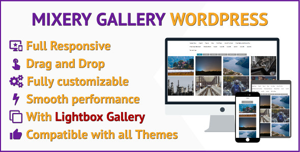 Filter Gallery WordPress Plugin Responsive Gallery that Sorts and Filter Images with Lightbox - CodeCanyon Item for Sale