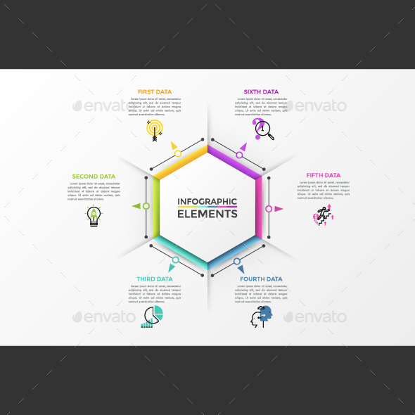 GraphicRiver Modern Infographic Polygon Template 21004875