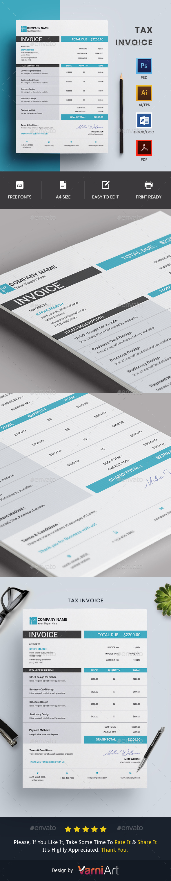 GraphicRiver Invoice 20990134