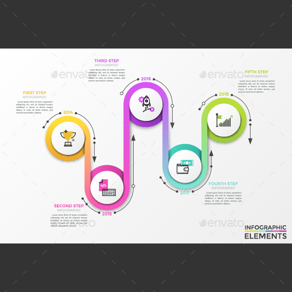 GraphicRiver Ribbon Connection Modern Infographics 21004921