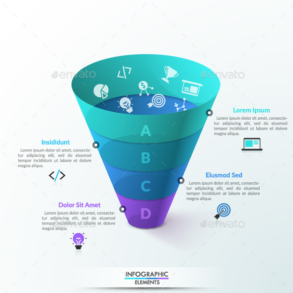 GraphicRiver 3D Transparent Funnel Infographic 21004932