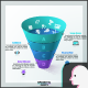 3D Transparent Funnel Infographic